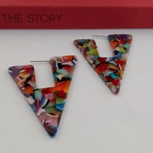 Geometric Multicolored Earrings